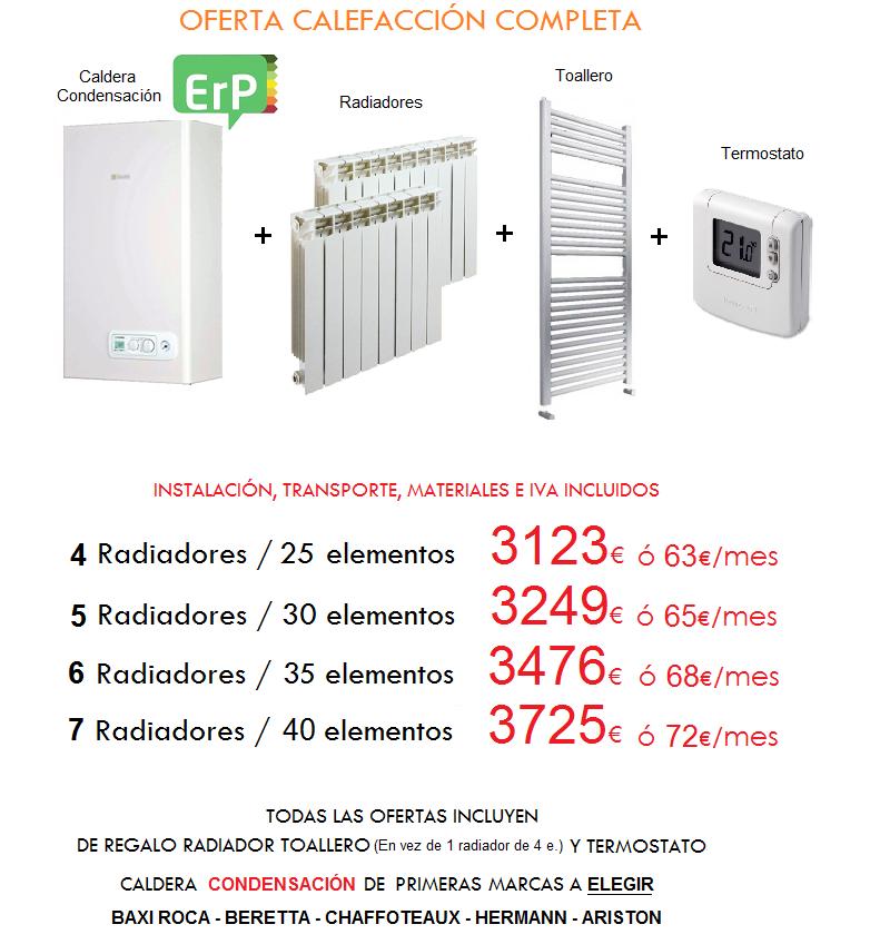 Instalacin calefaccin gas natural presupuesto aproximado for Precio instalacion calefaccion radiadores